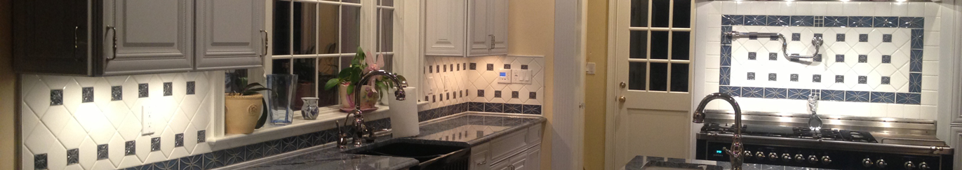 Kitchen flooring and backsplash installation